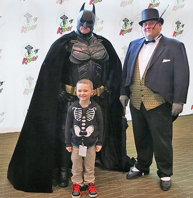 Just wait till their young fan departs for an all-out Penguin vs Batman clash!