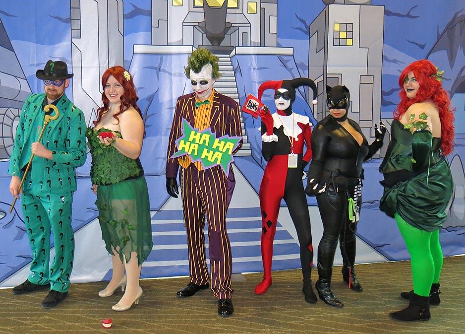 The Batman Comics bad guys cosplayers!