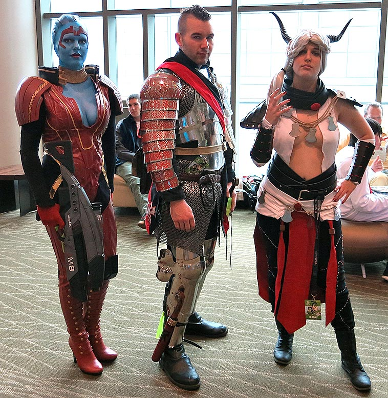 Cosplayers who cause double-takes at comic conventions