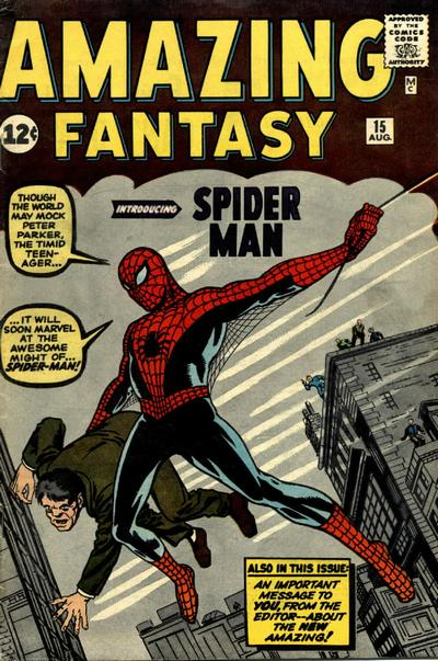 Amazing Fantasy 15 cover by Jack Kitrby