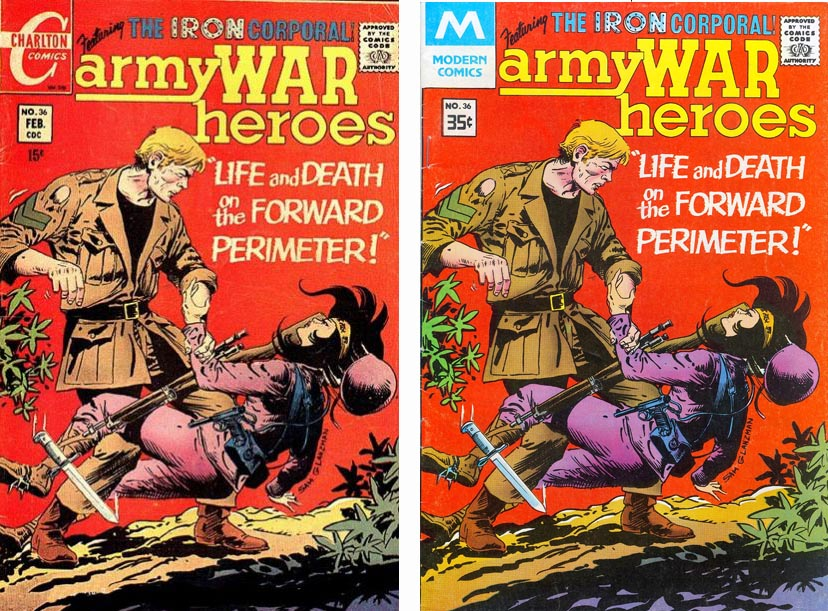 Charlton Comics Army War Heroes #36