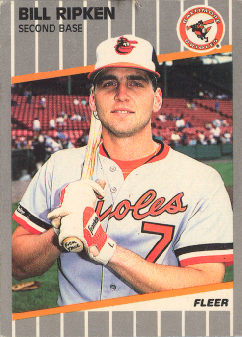 Fleery 1989 Billy Ripken error card