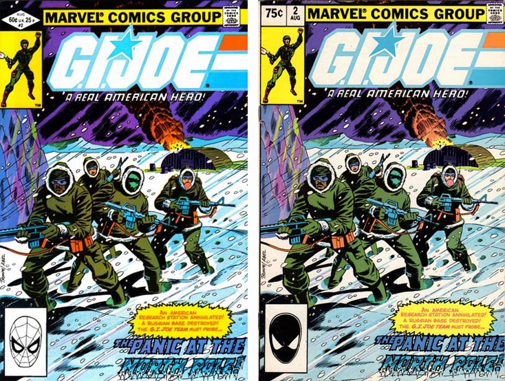 GI Joe A Real American Hero #1 1st and 2nd pritings