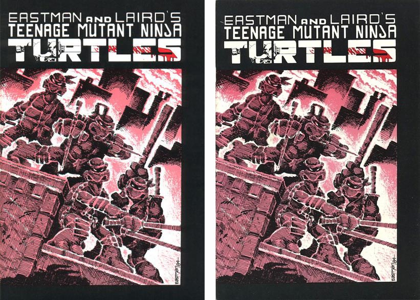 Teenage Mutant Ninja Turtles #1 first and 3rd printings