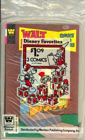 Whitman 3 pack of comics