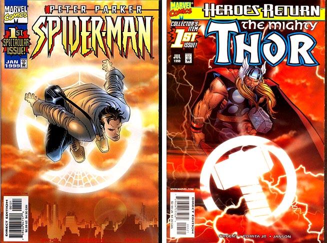 Marvel Comics sunburst variants