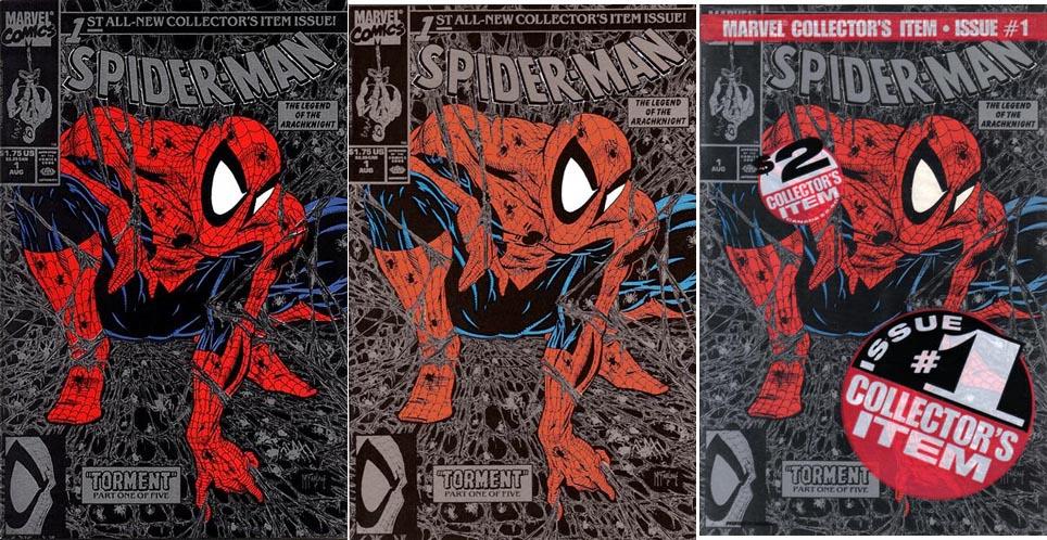 Spider-Man #1 Silver variants