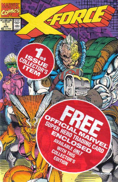X-Force #1 polybagged with trading card