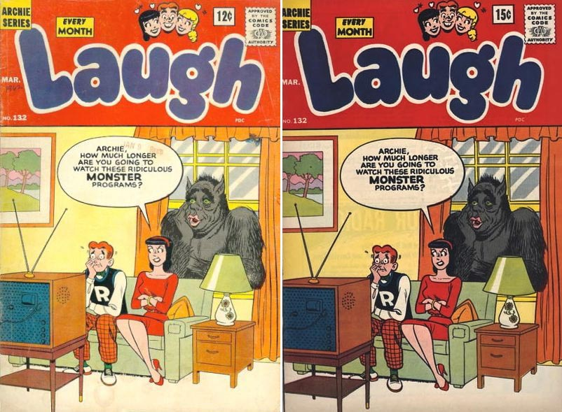 Laugh Comics 132 variant comic - price variant