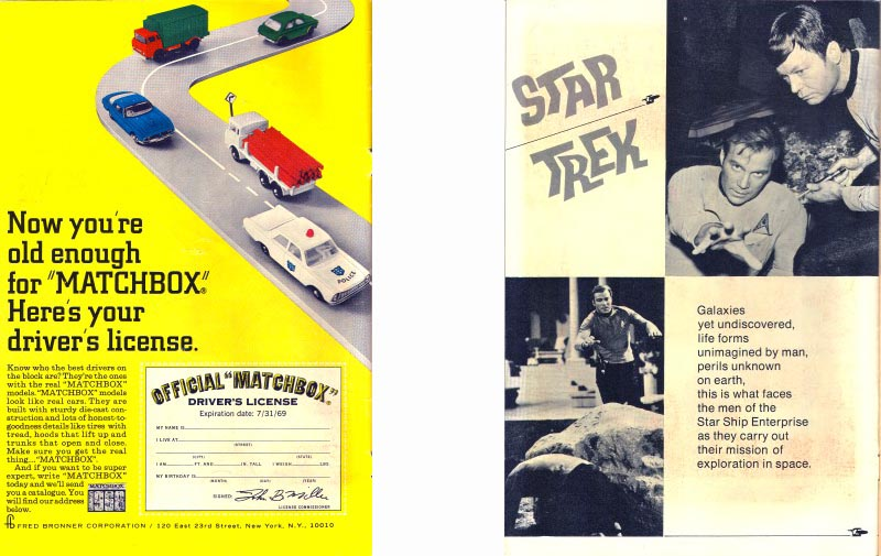 Gold Key Comics Star Trek #3 inside front cover