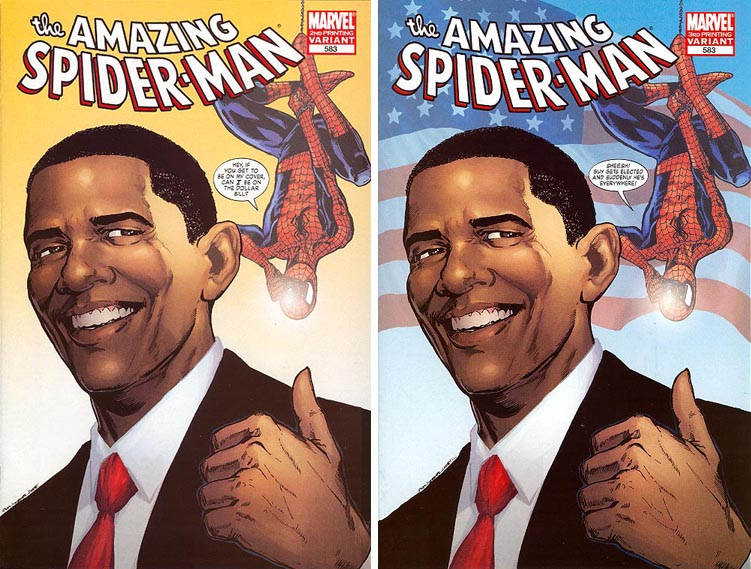 Amazing Spider-Man #583 Obama Variant 2nd and 3rd printings