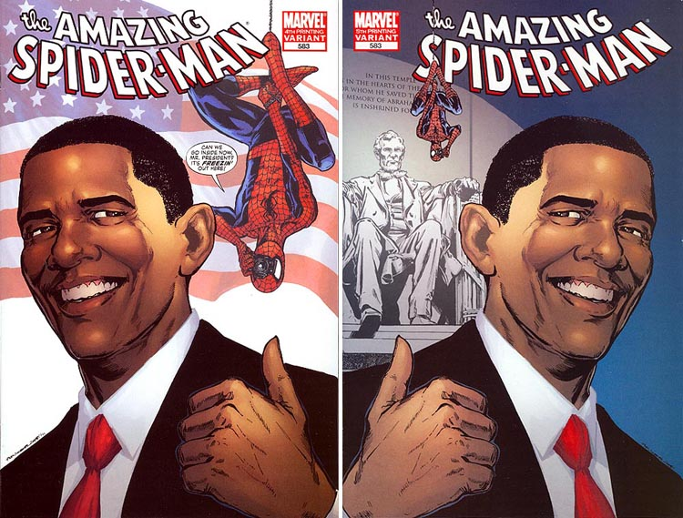 Amazing Spider-Man #583 Obama variant 4th and 5th printings
