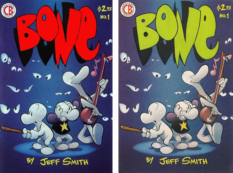 Bone #1 first and second prints