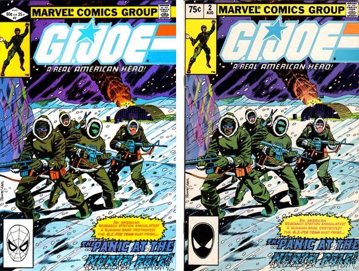 GI Joe A Real American Hero #1 1st and 2nd pritings