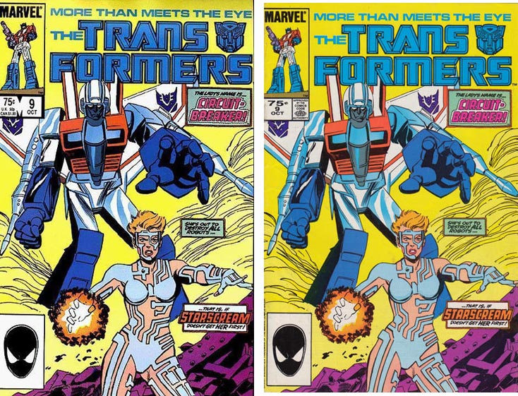 Transformers Comics #9 1st and 2nd printings