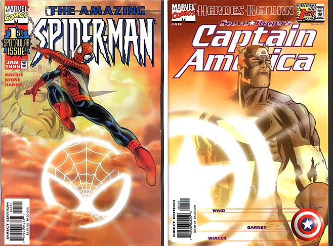 Marvel Comics sunburst variants