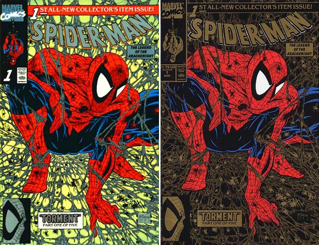 Spider-Man #1 Platinum and Gold variants