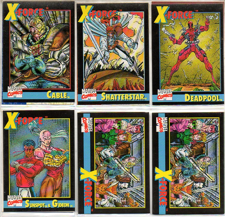 X-Force #1 chase cards