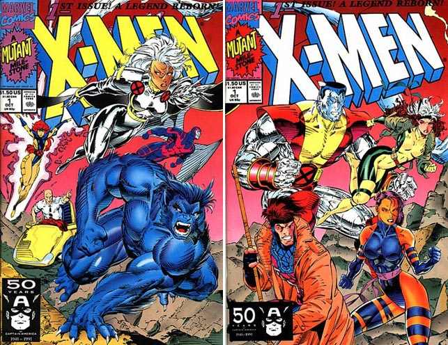 X-Men #1 covers A and B