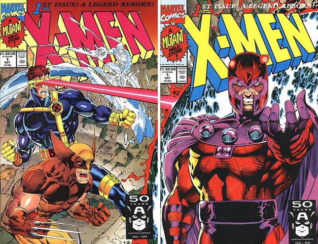 X-Men #1 covers C and D