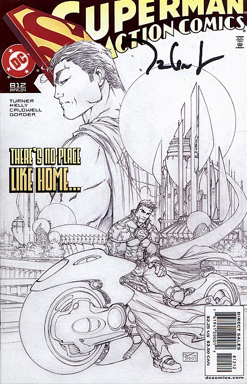 Action Comics 812 (DF signed By Talent Caldwell 2 nd Printing Michael Turner Sketch Variant)