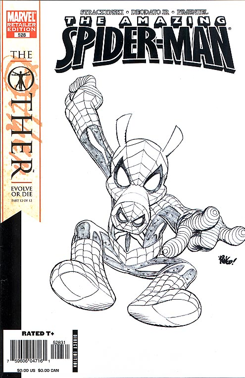 Amazing Spider-Man 528 ( 1 in 50 Incentive Mike Weiringo Sketch Variant)