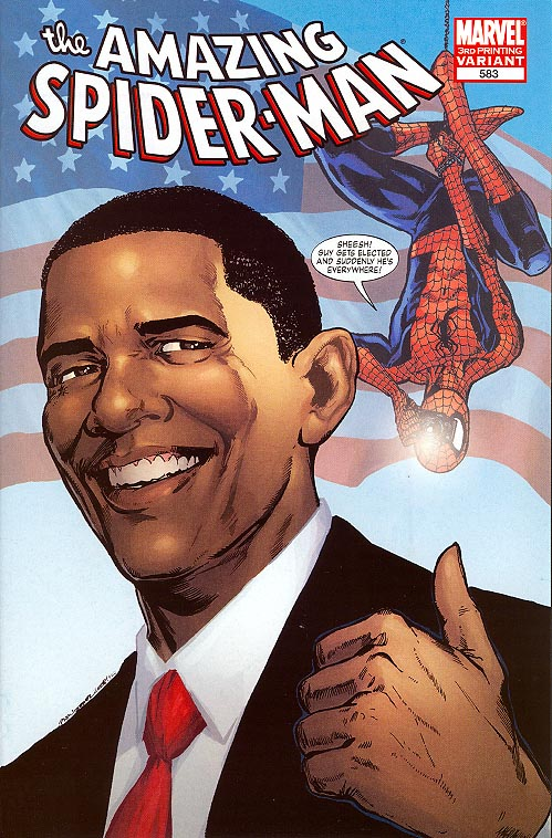 Amazing Spider-Man 583 ( 3 rd Printing Obama Phil Jimenez Cvr)