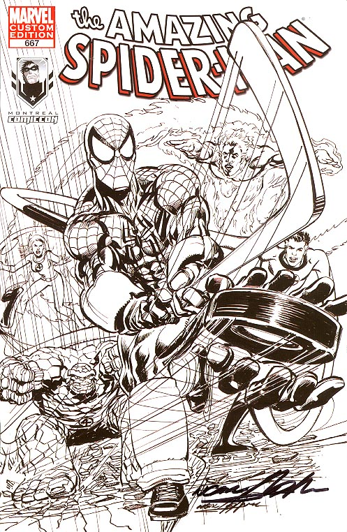 Amazing Spider-Man 667 (Montreal Comicon Sketch Variant Signed By Neal Adams)