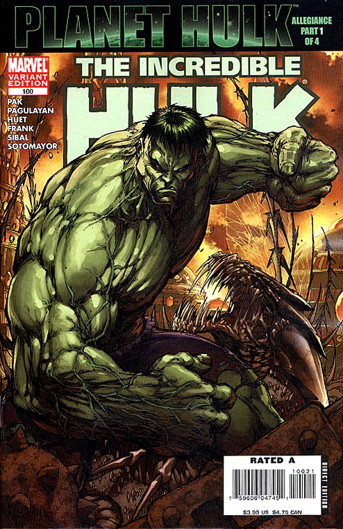 Incredible Hulk vol 2 - 100 ( 1 in 10 Order Incentive Michael Turner Cvr)