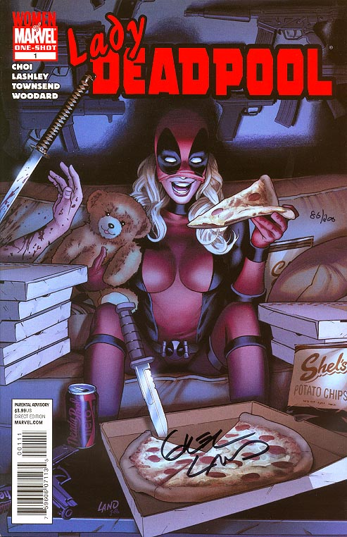 Lady Deadpool 1 (DF Signed By Land 1 of 200 )