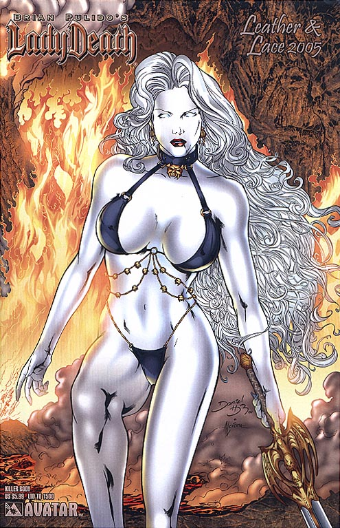 Lady Death (Avatar) Leather & Lace 2005 (Daniel HDR Killer Body Cvr 1 of 1500 )