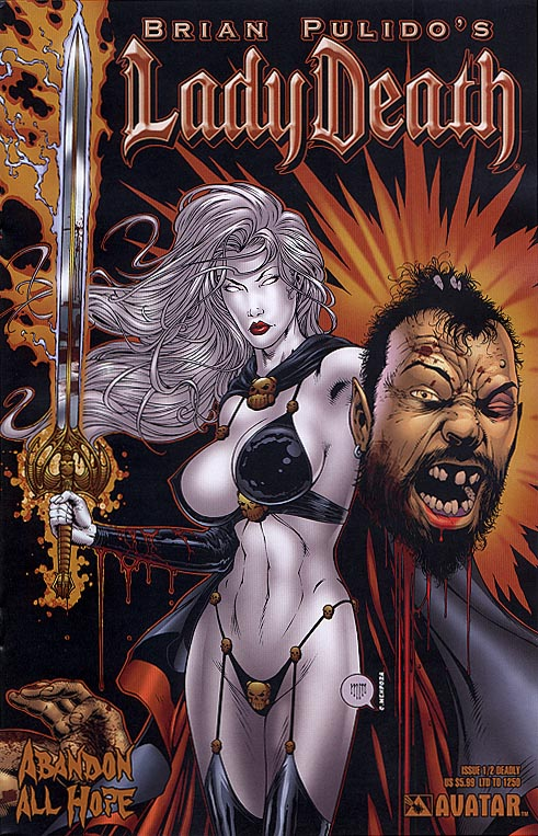 Lady Death Abandon All Hope one-half (Deadly Cvr 1 of 1250 )