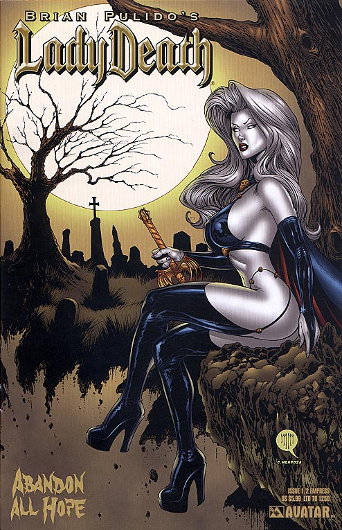 Lady Death Abandon All Hope one-half (Empress Cvr 1 of 1250 )