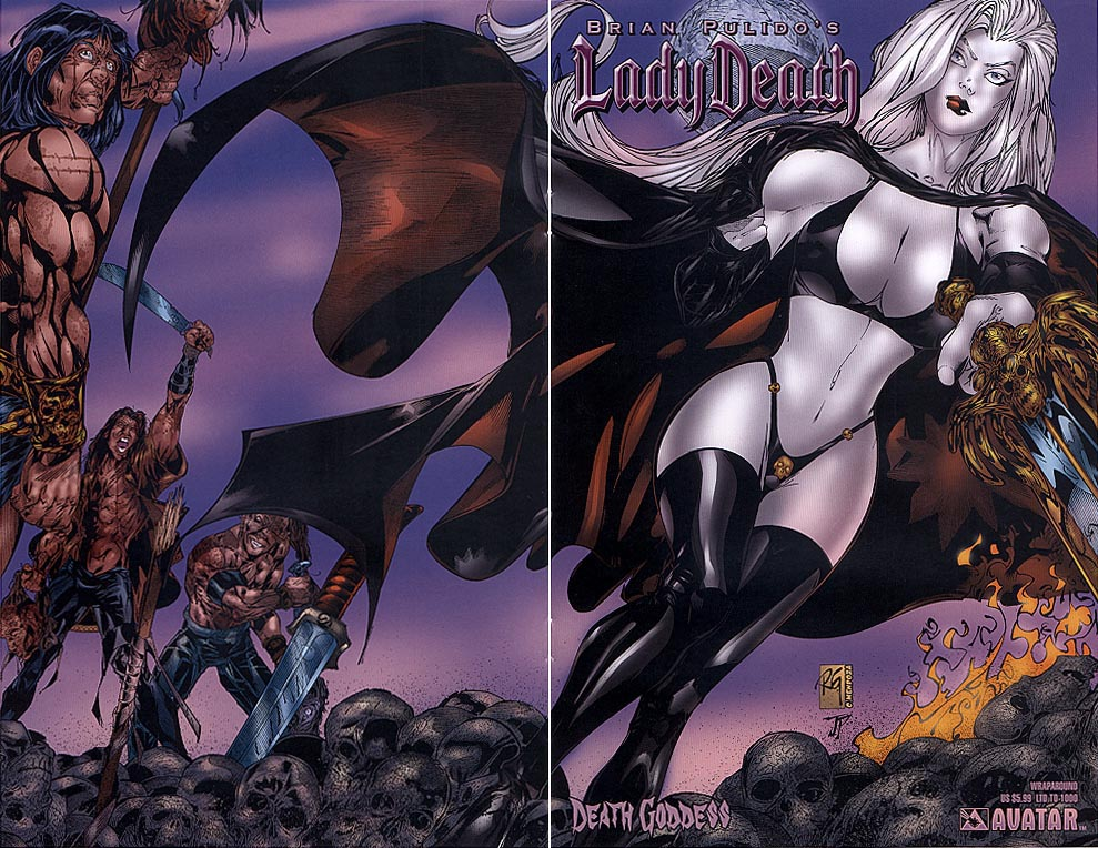 Lady Death Death Goddess (Wraparound Cvr 1 of 1000 )