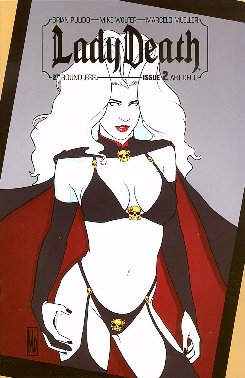 Lady Death vol 3 - 2 ( 1 in 4 Incentive Art Deco Variant)