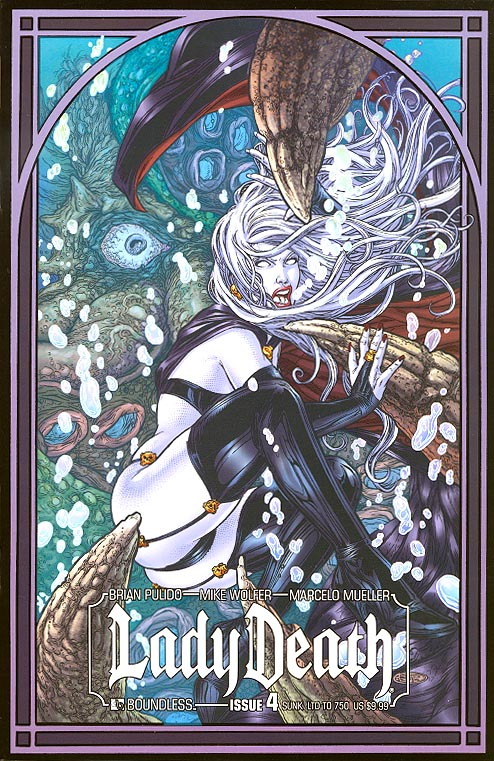 Lady Death vol 3 - 4 (Sunk Variant 1 of 750 )