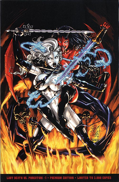 Lady Death vs Purgatori 1 (Premium Ed 1 of 3000 )