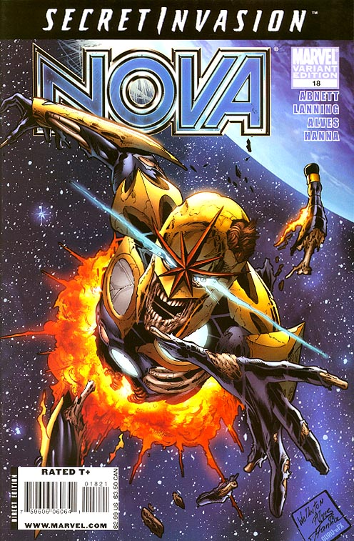 Nova vol 4 - 18 ( 1 in 10 Alves Zombie Variant)