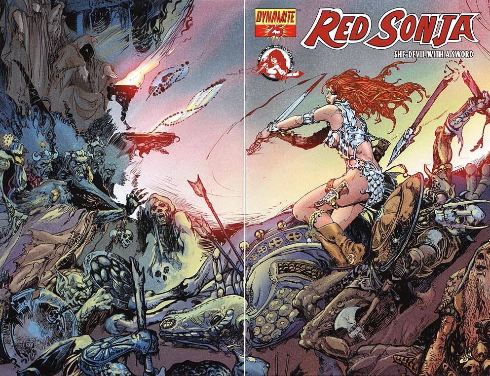 Red Sonja (Dynamite) 25 (Limited Wrap Variant)