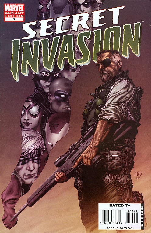 Secret Invasion 3 (of 8 ) ( 1 in 19 Incentive Steve Mc Niven Variant)