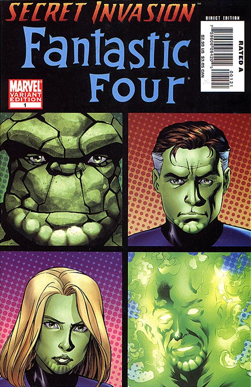 Secret Invasion Fantastic Four 1 (Scrull Fave Order incentive Variant By Mike Mc Kone 1 in 20 )