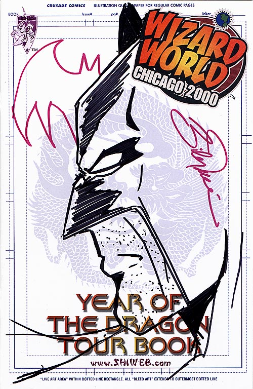 Shi Year Of The Dragon Tour Book (Remarked&Signed Wizard World Chicago 2000 Edition)