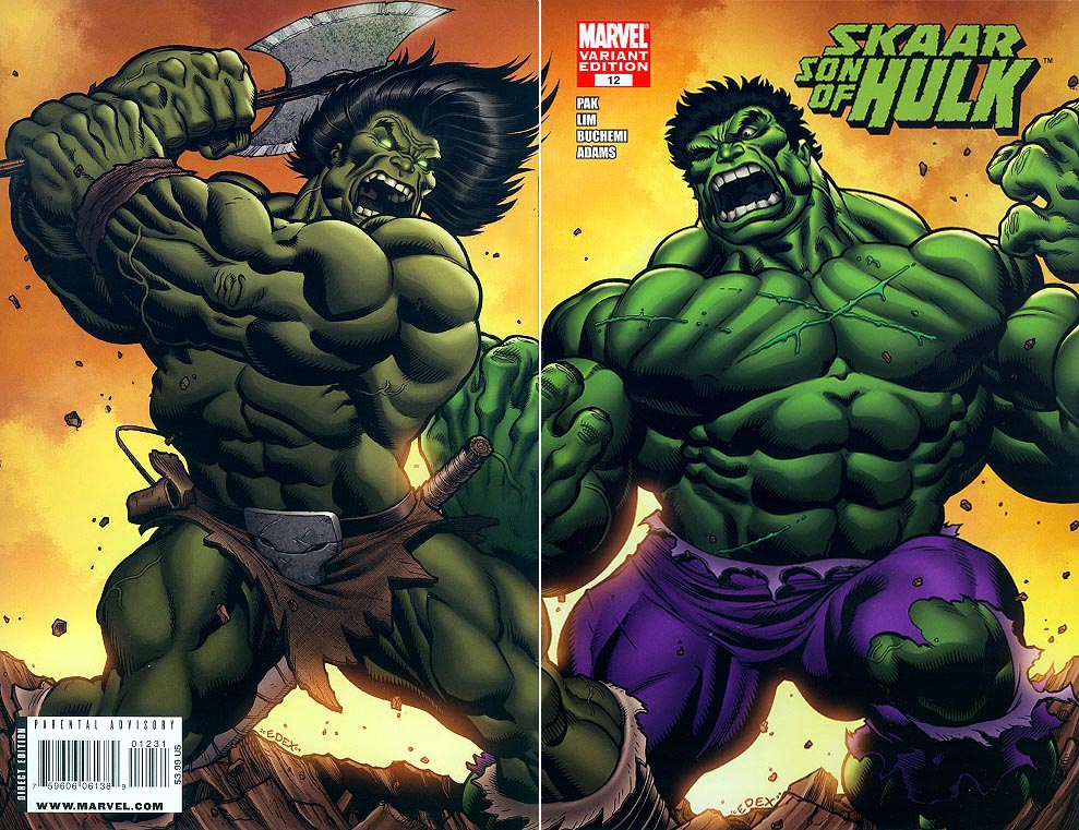 Skaar Son of Hulk 12 ( 1 in 25 Incentive Wrap-Around Variant)