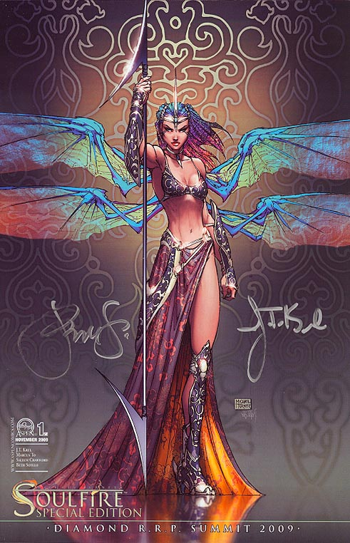 Soulfire vol 2 - 1 SE (RRP 2009 Retailer Summit 1 of 1000 Signed by JT Krul & Peter Steigerwald)