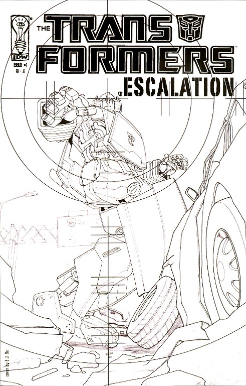 Transformers Escalation 1 RI-A ( 1 in 25 Incentive Variant)