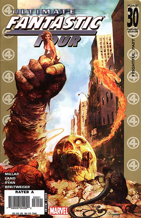 Ultimate Fantastic Four 30 ( 1 in 15 Arthur Suydam Zombie Incentive Variant)