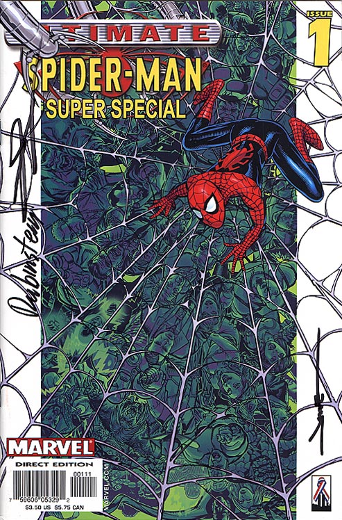 Ultimate Spider-Man Super Special 1 (DF Signed By Jae Lee-June Chung-Joe Rubenstein)