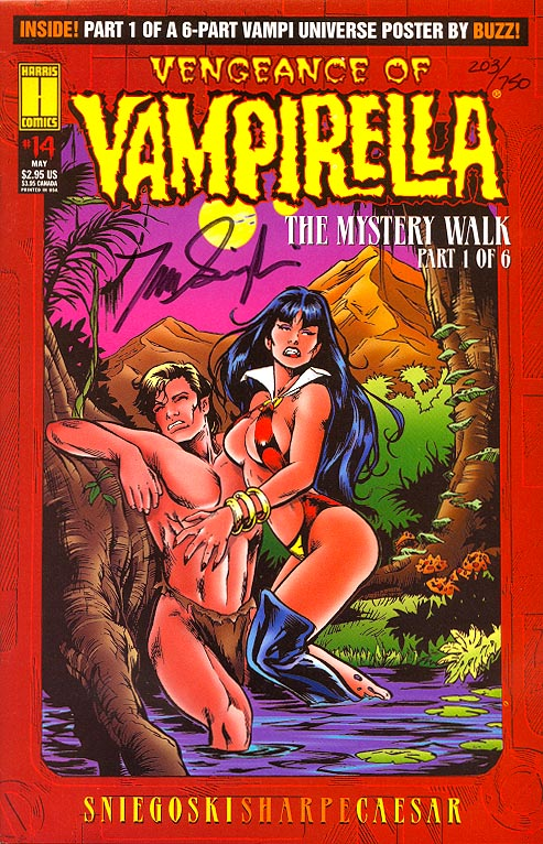 Vengeance Of Vampirella 14 (DF Signed By Sniegoski 1 of 750 )