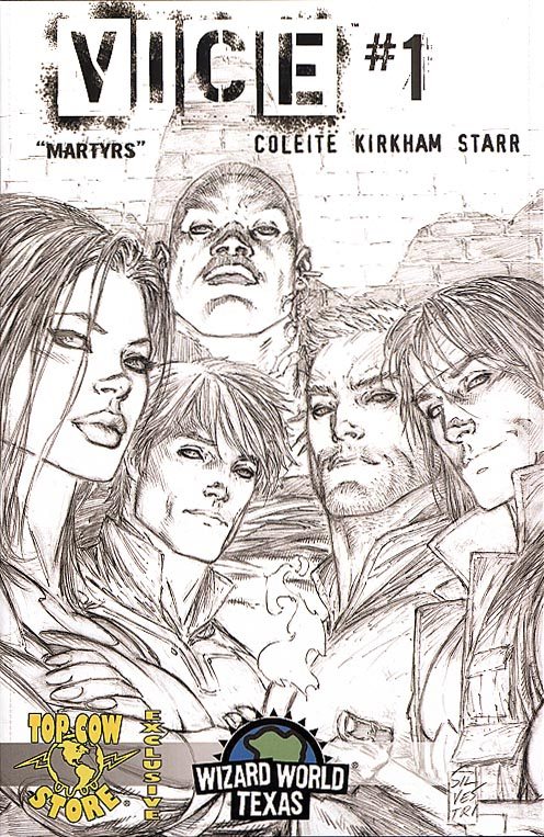 Vice (Top Cow) 1 (Wizard World Texas Marc Silvestri Sketch Cvr 1 of 500 )