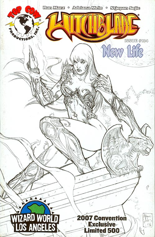 Witchblade 104 (Wizard World LA Sketch Variant 1 of 500 )